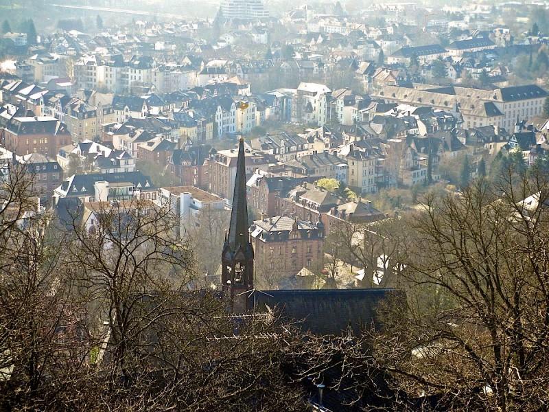 Вид на исторический центр города со стороны замка