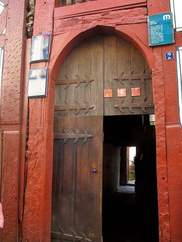Вход в дом, где жил М.В. Ломоносов