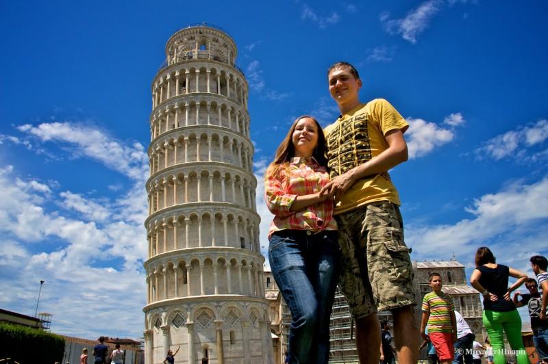Мы и Пизанская башня (Torre pendente di Pisa)