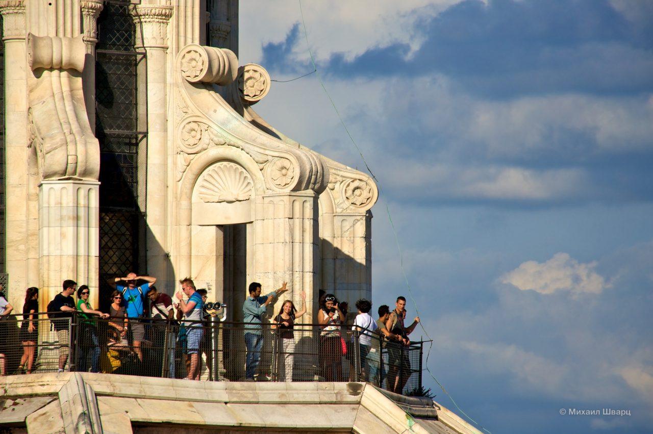 На башне Кафедрального собора