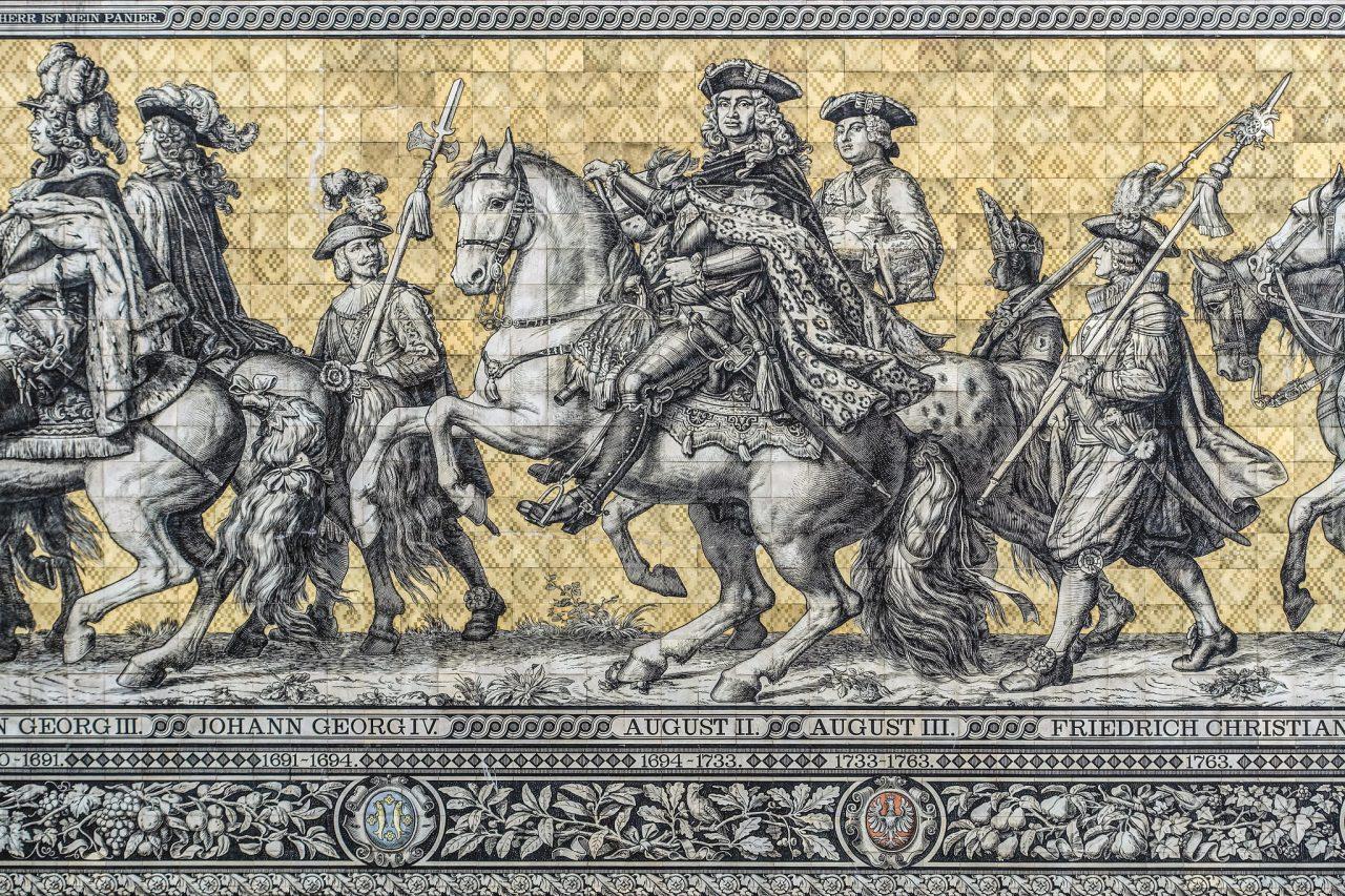 Детали панно (Август II и АвгустIII)