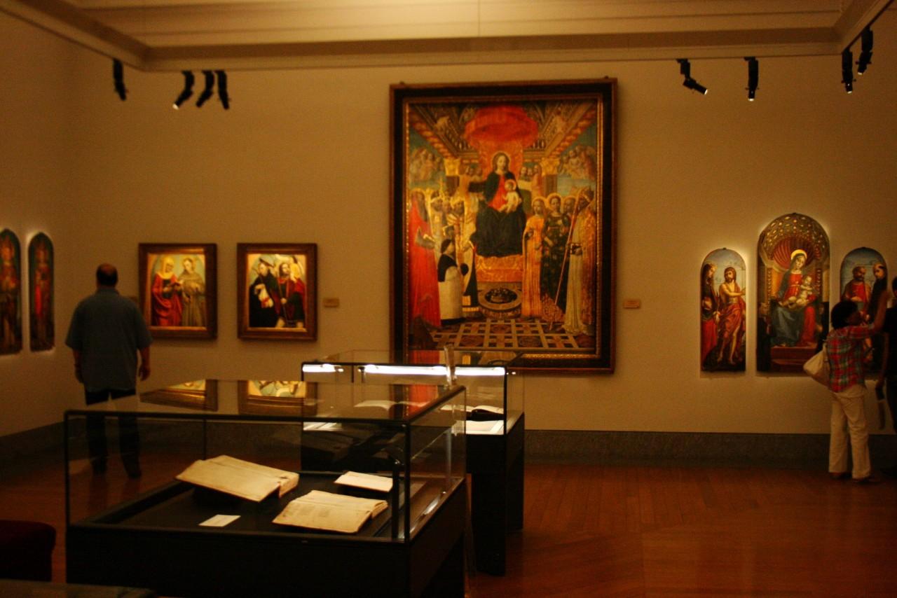 Экспозиция в галерее Амброзиана