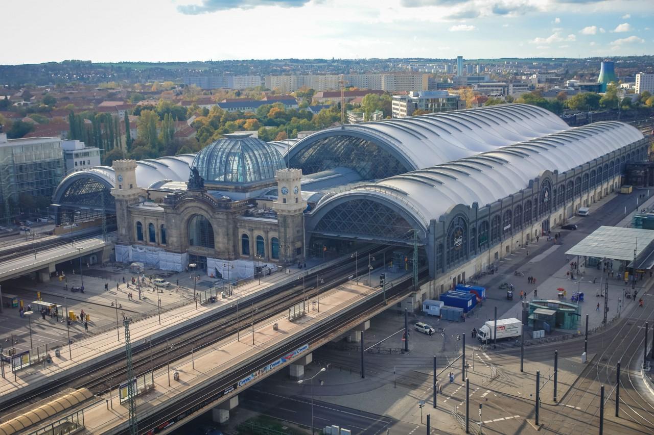 Центральный вокзал Дрездена