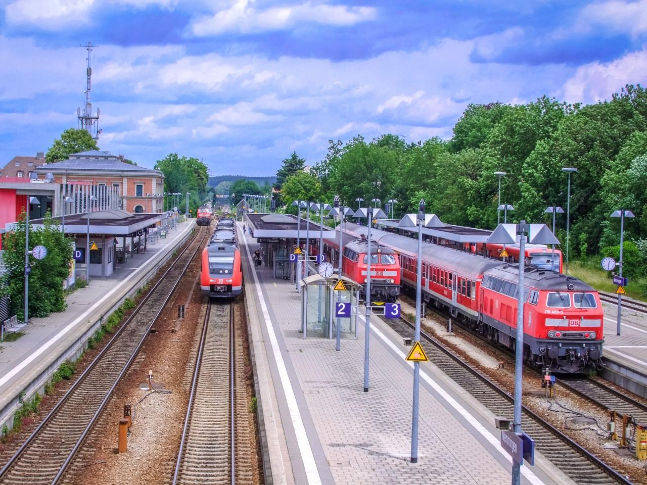 Вокзал в Меммингене
