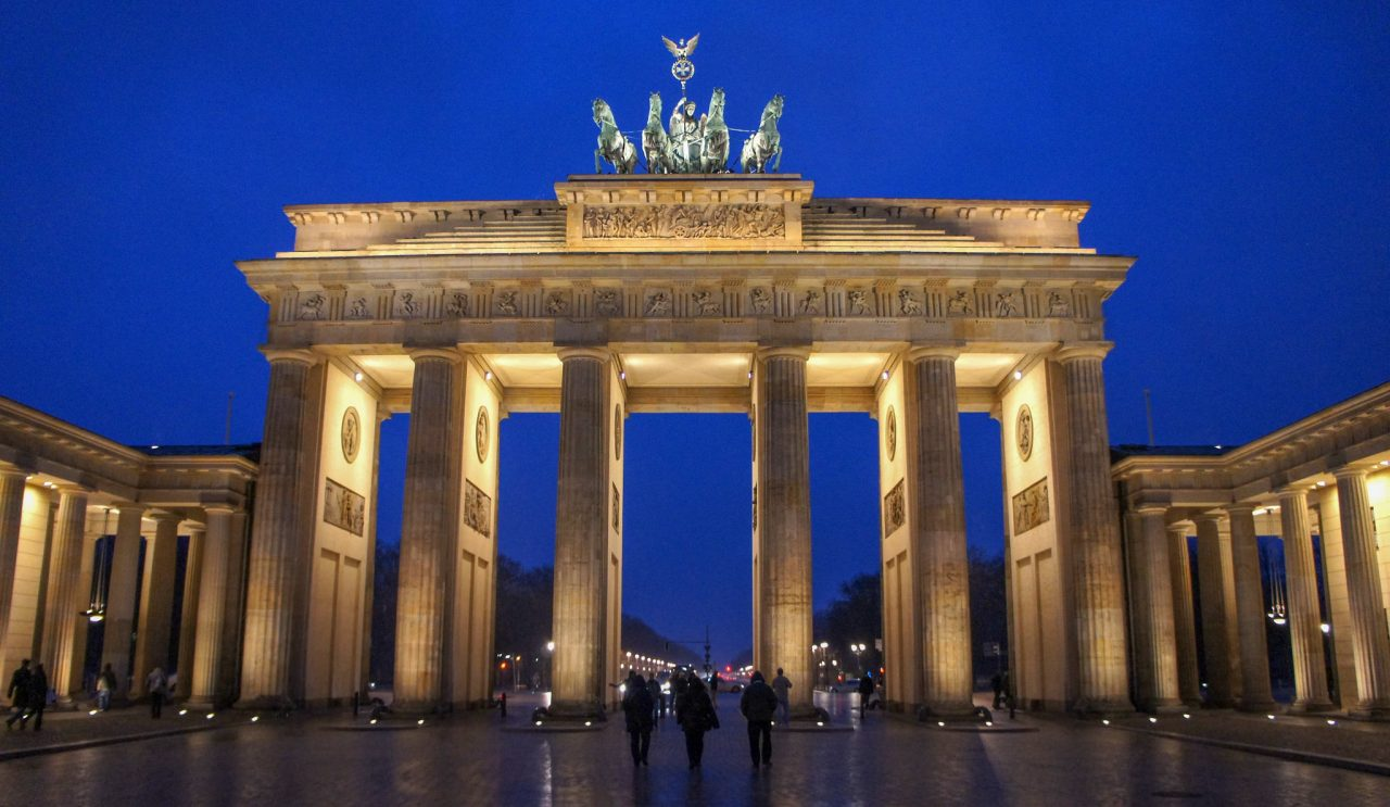 Бранденбургские ворота с восточной стороны