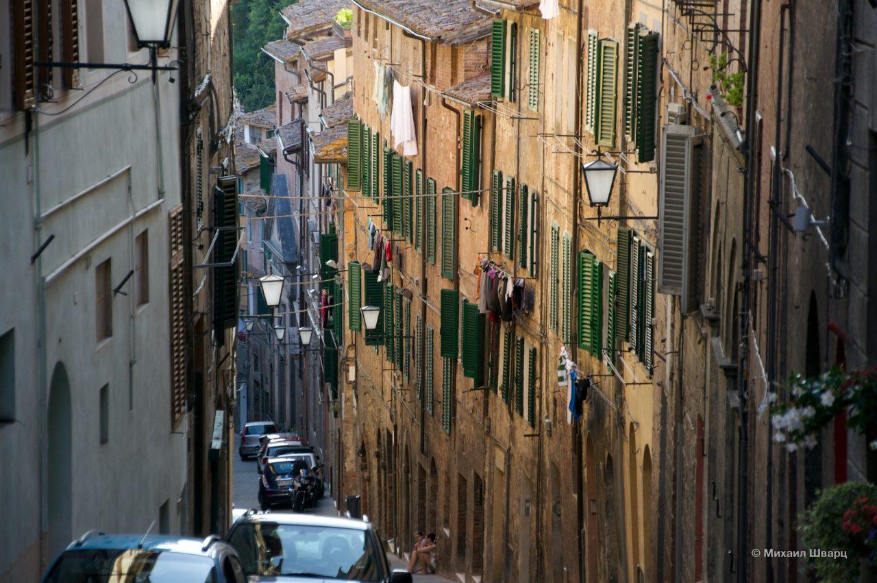 Уютные улочки Сиены