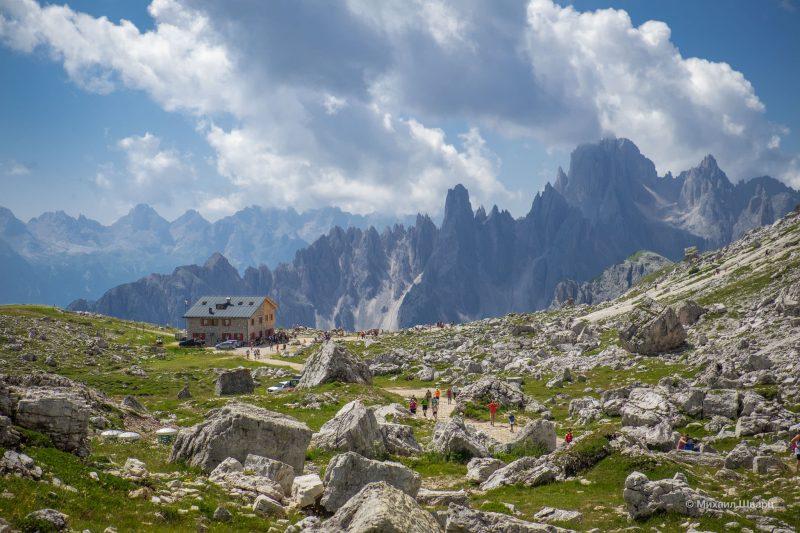 Горы Tre Cime di Lavaredo в Доломитах