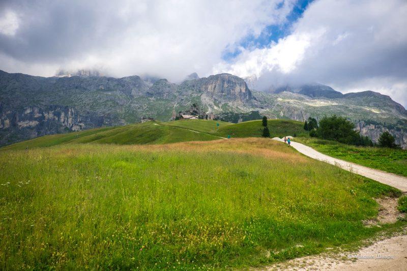 Прогулка к пику Boé в Доломитах