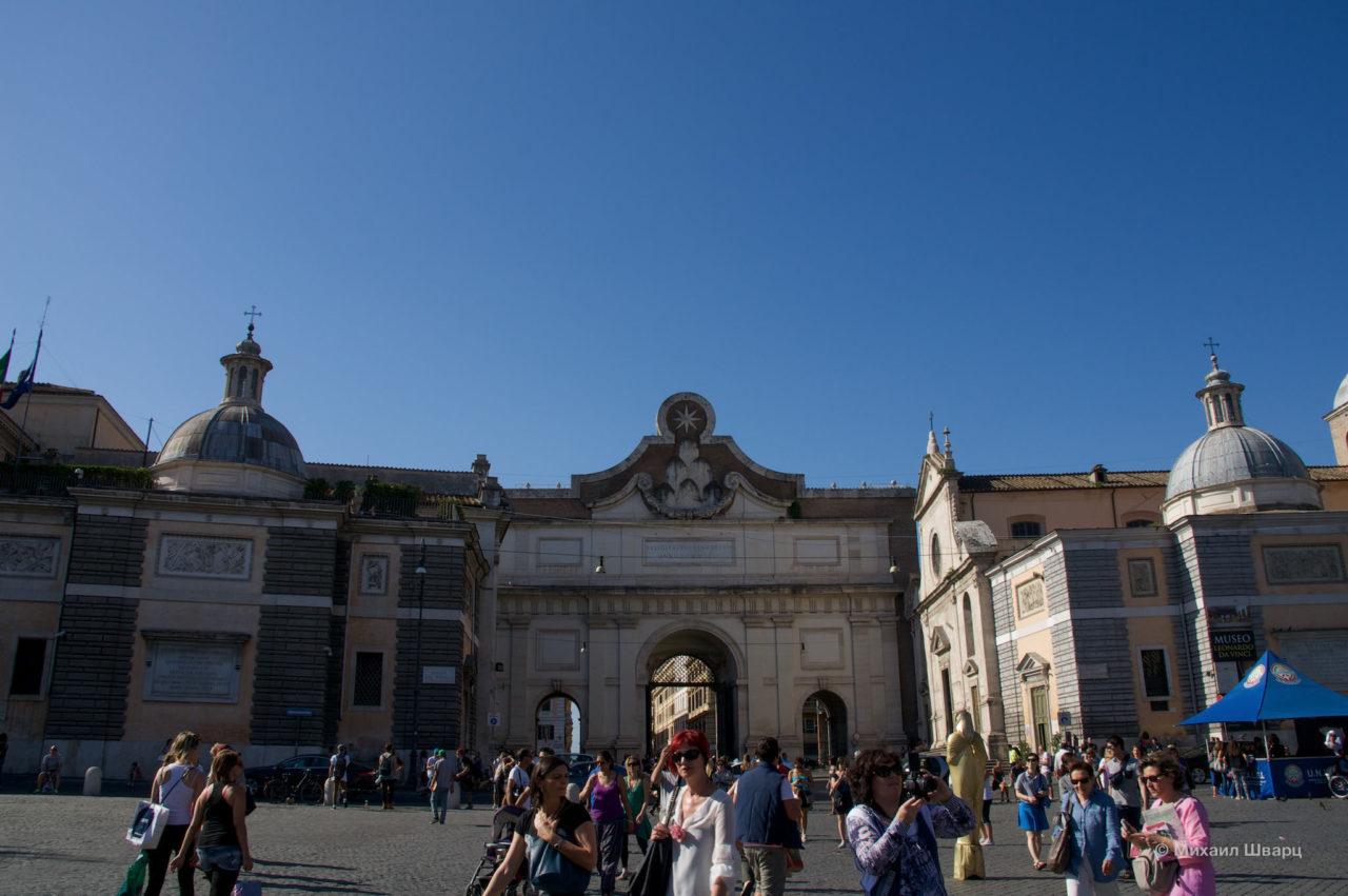 Ворота дель Пополо (Porta del Popolo)