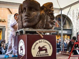 Фестиваль шоколада в Перудже