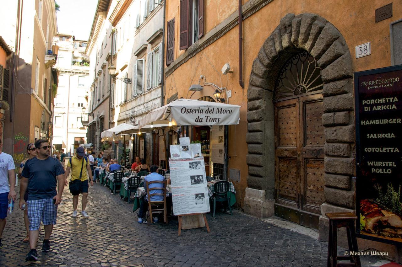 Уютные ресторанчики Рима